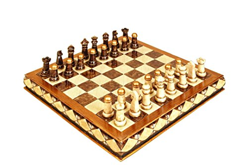 Home Polystone Décor Chess Set Entertaining Exotic -