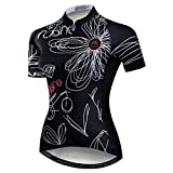 Weimomokey Women's Polyester Short Sleeve Cycling Jersey Bike Tops Biking Shirt