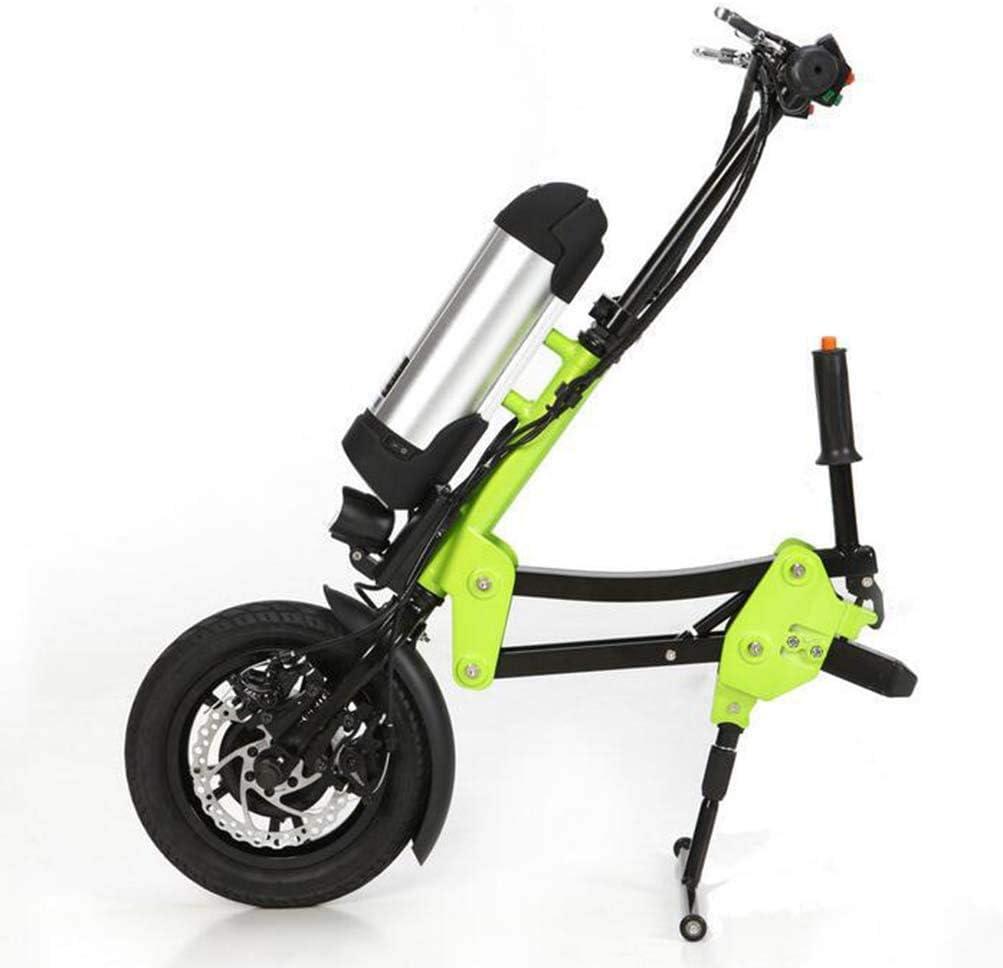 YEAY Kit de conversión de handbike eléctrico 36V 250W para la batería de Iones de Litio 10AH de la discapacidad, Kit de conversión de Silla de Ruedas eléctrica Conector de Soporte,Verde