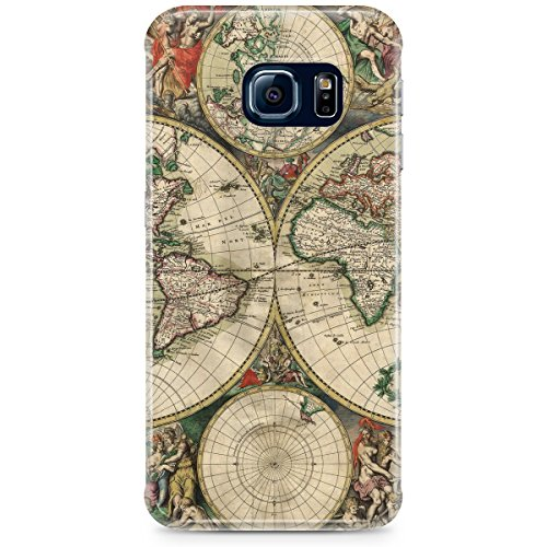 Phone Case For Apple iPhone 6 Plus - 1689 Antique World Globe Map Snap-On Hard
