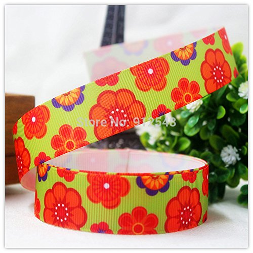 FunnyCraft 10 Yards 22Mm Cartoon Printed Grosgrain Ribbon Diy Handmade Jewelry Materials Wedding Gift Packaging Supplies