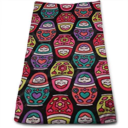 Pejer Polyester Kitchen Towels Dishcloth, Russian Nesting Dolls Microfiber Beach Towel Large- 11.8