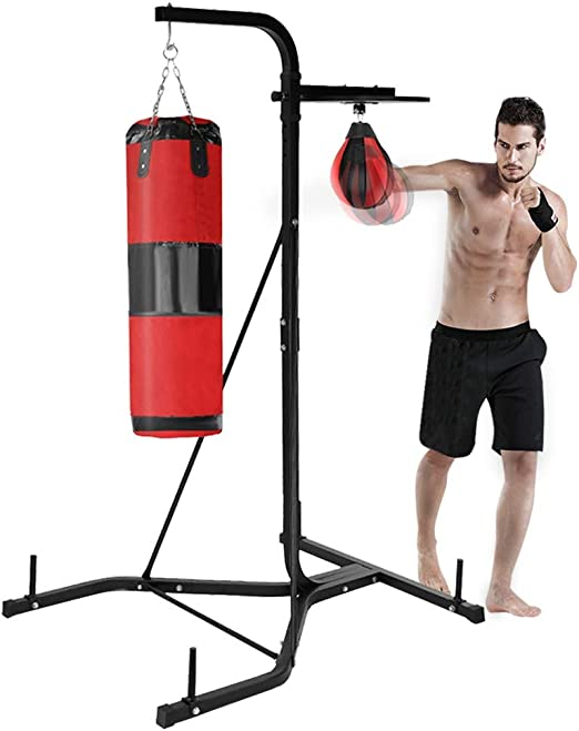 Heavy-duty Boxing Punching Bag Rack Free Standing Boxing Bag For Home Fitness AA