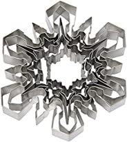 Ateco Plain Edge Snowflake Cutter Set in Assorted Shapes & Sizes, Stainless Steel, 5 Pc Set,