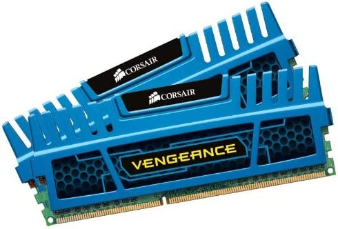 Corsair CMZ16GX3M2A1600C10B Vengeance Blue 16 GB (2x8 GB) DDR3 1600MHz (PC3 12800) Desktop Memory 1.5V
