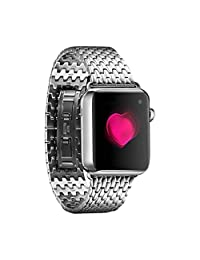 AutumnFall Luxury Stainless Steel Link Bracelet Watch Band Strap for Apple Watch 42mm