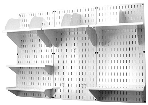 Modern Versatile Office Wall Mount Storage and Organization to Keep Your Office Well Organized and Space Saving (Organizer Kit White & White) by Classy-Product (Image #1)