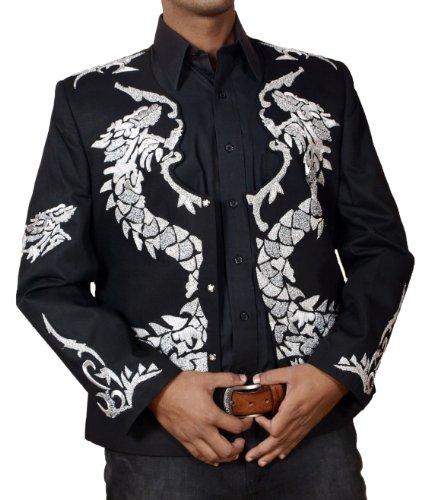 HLS Michael Jackson Dragon Hand Work Military Jacket