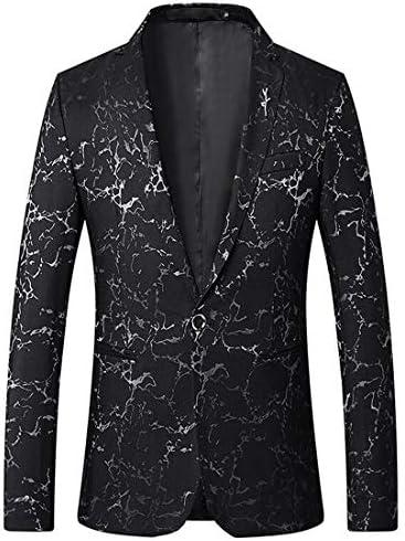 [MANMASTER(マンマスター)]テーラードジャケット ブレザー 総柄 一つボタン ステージ衣装 メンズ CH560