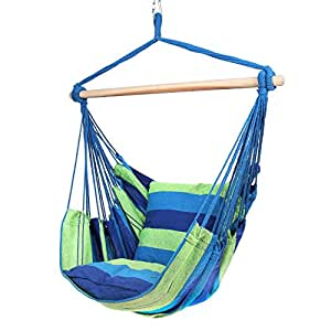 Amazon.com: Blissun Hanging Hammock Chair, Hanging Swing ...