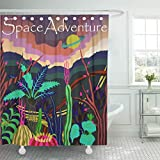 Best Planet Dog Dog Whistles - Emvency Shower Curtain Bright Cosmos Fantastic Planet Review