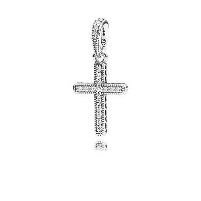 dd1106d0c Amazon.com: Pandora Classic Cross Pendant In Sterling Silver 397571CZ:  Jewelry