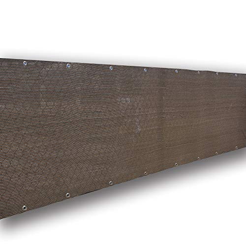 - Alion Home Elegant Privacy Screen Fence Mesh Windscreen for Backyard Deck Patio Balcony Pool Porch Railing 3 FT Height-Brown/Mocha (3' x 10')