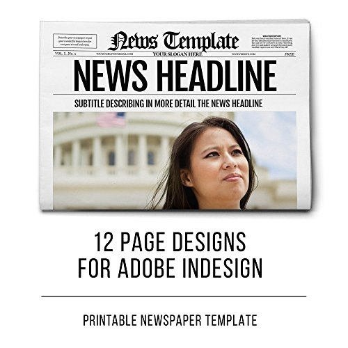 Newspaper Template for Adobe InDesign - Digital - Registration Newsletter