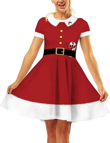 Mibuy Vestidos Mujer Fiesta,2019 Moda Impresión Navidad Falda Slim ...