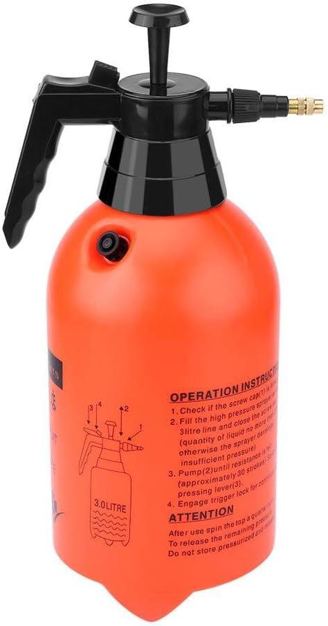 Rociador de presión, 2L/3L portátil de mano jardín césped bomba pulverizador de agua herramienta de riego de planta para fertilización, limpieza y uso general de pulverización(3 L): Amazon.es: Jardín