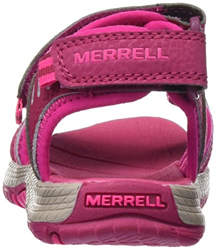 Merrell Panther, Sandalias de Senderismo para Niñas Rojo (Berry)