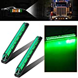 LIMICAR 2PCS Led Marker Light Utility Strip Bar Led Marker Clearance Light 12V 8'' Truck Trailer Boat 18 LED Green