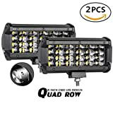 offroad quad - Auto Power Plus LED Pods, 2pcs 6'' 120W Quad Row Light Bar Off Road Driving Fog Lights Cree Led Cubes Boat Lights Flood Work Lights for Truck ATV UTV SUV Jeep Marine, 2 Years Warranty