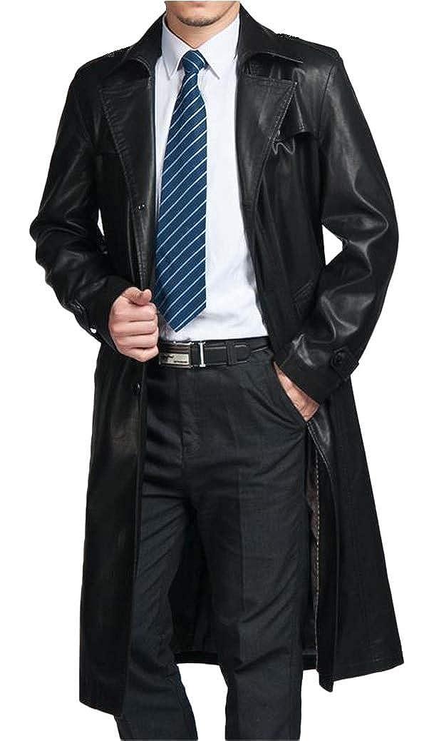 Amazon.com: DashX - Chaqueta de cuero para hombre, talla ...