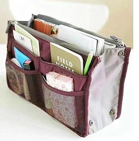 c1cde2563d37 Handbag Pouch Bag in Bag Organiser Insert Organizer Tidy Travel Cosmetic  Pocket Makeup Bag