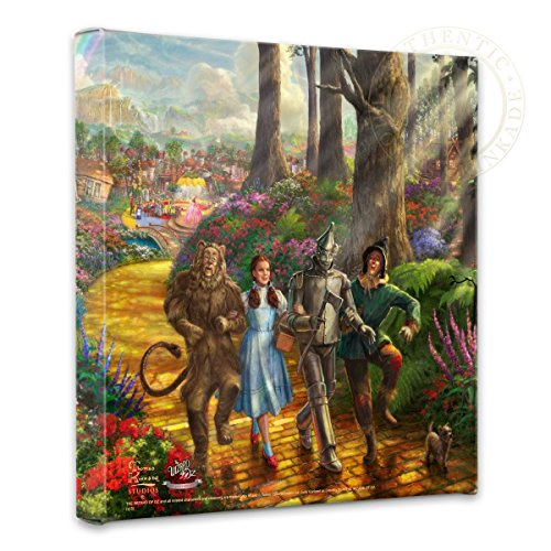 Thomas Kinkade - Gallery Wrapped Canvas , Follow The YELLOW BRICK ROAD , 14