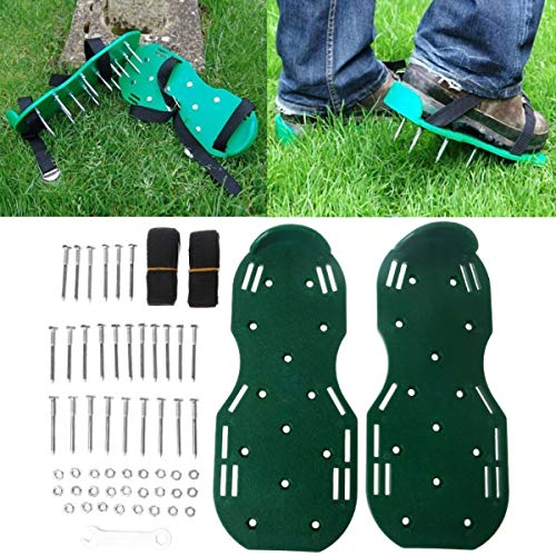 2TRIDENTS 1 Pair of Lawn Aerator Shoes - for Effectively Aerating Lawn, Soil - Garden Tools Loose Land Shoes