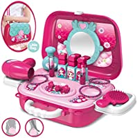 Dreamon Role Play Jewellry Kit for Girls Toy Set 2 in 1 Princess Bag Gift for Girls Kids 3 Years Old
