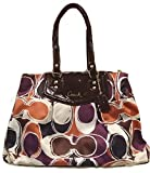 Coach Ashley Signature Hand Drawn Carryall Satchel Bag