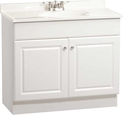 Rsi Home Products C14136A Richmond Bathroom Vanity Cabinet With Top, Fully  Assembled, 2 Door