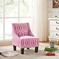 Better Homes and Gardens Kids Polyester Solid Wood Legs Swoop Chair for Boys and Girls, Multiple Choices - Irongate Pink