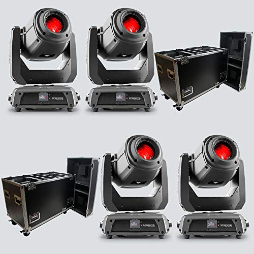 Chauvet DJ Intimidator Spot 375Z IRC Moving Head Lights (4) with Rolling Road Cases (2) ()