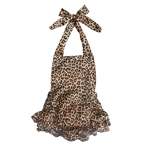 Cloth Leopard (Lisianthus Baby Girls' Ruffles Romper Dress Summer Clothing Leopard B Size 6M)