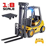 DOUBLE  E Remote Control Forklift 1/8 Large RC Forklift Construction Toys Engineering Carrier Truck 2.4Ghz Control