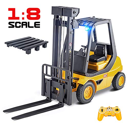 Remote Control Forklift - DOUBLE  E Remote Control Forklift 1/8 Large RC Forklift Construction Toys Engineering Carrier Truck 2.4Ghz Control