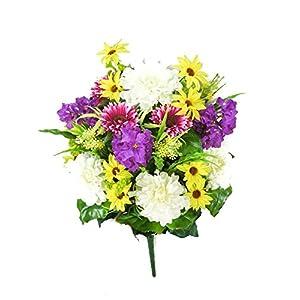 Artificial Zinnia Flowers