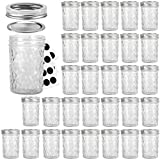 Mason Jars 8OZ, VERONES 8 OZ Canning Jars Jelly Jars With Regular Lids and Bands, Ideal for Jam, Honey, Wedding Favors, Shower Favors, Baby Foods, 30 PACK