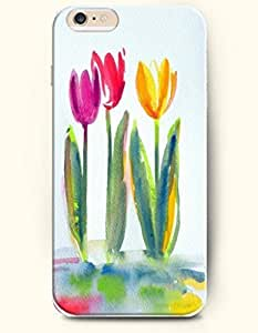 SevenArc Hard Phone Case for Apple iPhone 6 Plus ( iPhone 6 + )( 5.5 inches) - Red Purple And Yellow Tulips - Oil...