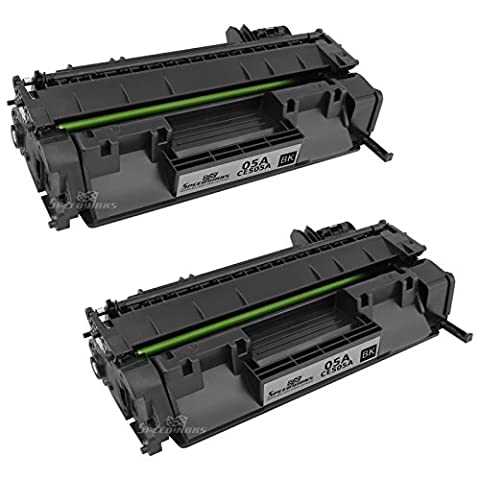 Speedy Inks - 2pk Compatible Replacement for HP 05A CE505A Black Laser Toner Cartridge for LaserJet P2035, P2035n, P2055dn, P2055X, (Hp 05a Cartridge)