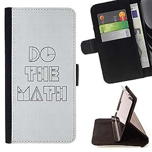 BullDog Case - FOR/LG G2 D800 / - / Funny Do The Math Minimalist /- Monedero de cuero de la PU Llevar cubierta de la caja con el ID Credit Card Slots Flip funda de cuer