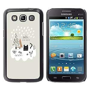 TopCaseStore / la caja del caucho duro de la cubierta de protección de la piel - Winter Snow Painting White Puppy Dog - Samsung Galaxy Win I8550 I8552 Grand Quattro