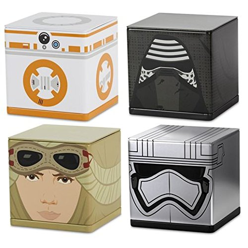 Decorative Tin Container Collectible - Star Wars: The Force Awakens Characters CUBEEZ Container Set of 4 CUBEEZ Sci-Fi