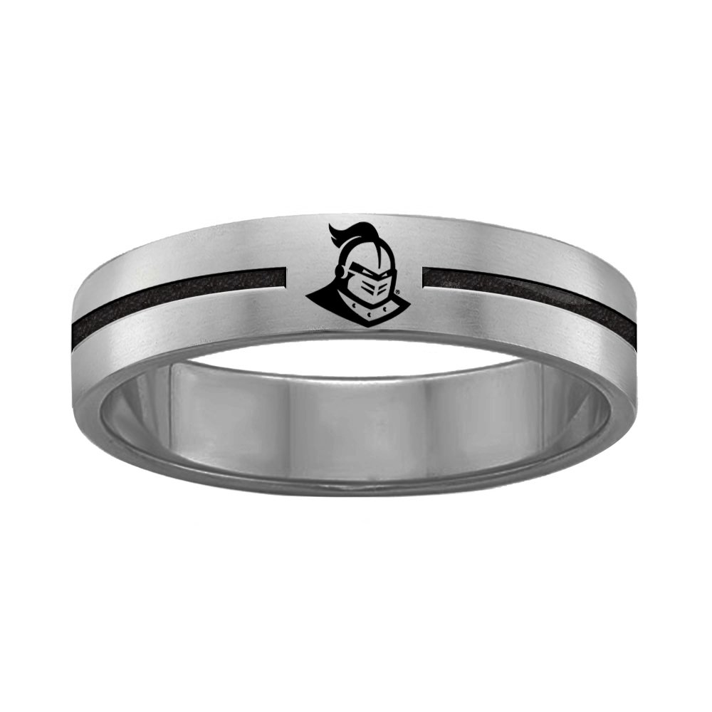 College Jewelry University of Central Florida Knights Rings Stainless Steel 8MM Wide Ring Band