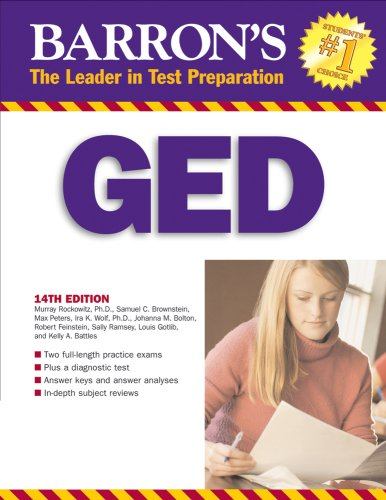 Barron's GED: High School Equivalency Exam, 14th Edition (Book only)