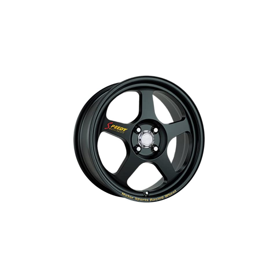 0x7 Speedy Race Mode (Matte Black) Wheels/Rims 4x100 (RM17704100B)