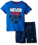 adidas Baby Boys' Tee and Active Short Set, Shock Blue, 9 Months