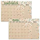 2019-2020 Kraft Calendar Pad - 11'' x 16-1/4'', Runs from January 2019 to December 2020