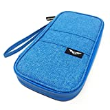 SOLOVOLA GRAB & GO Water Resistant RFID Blocking Passport Holder, Travel Wallet and Organizer SKY BLUE