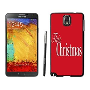 Individualization Merry Christmas Black Samsung Galaxy Note 3 Case 26