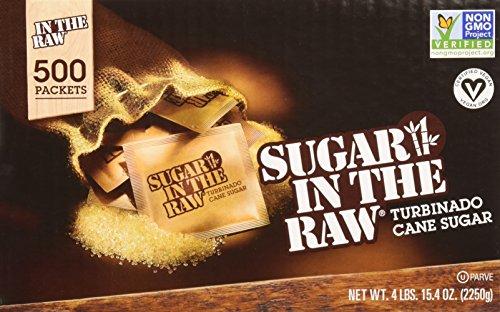 (Sugar Packets, Raw Sugar, 0.18 oz Packets, 500 per Carton)